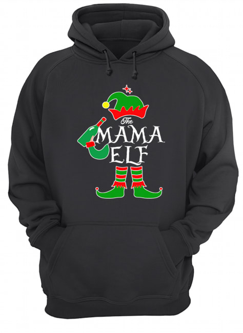 Funny The Mama Elf Family Matching Group Christmas  Unisex Hoodie