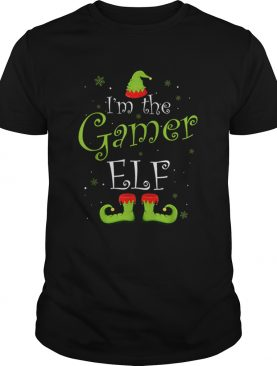 Im The Gamer Elf Matching Family Group Christmas Funny Xmas shirt