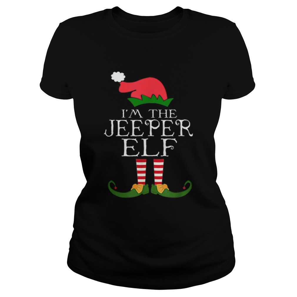 Im The Jeeper ELF Santa Hat Jeep Lovers Merry Christmas Classic Ladies