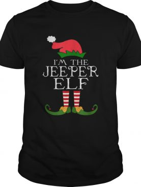 Im The Jeeper ELF Santa Hat Jeep Lovers Merry Christmas shirt