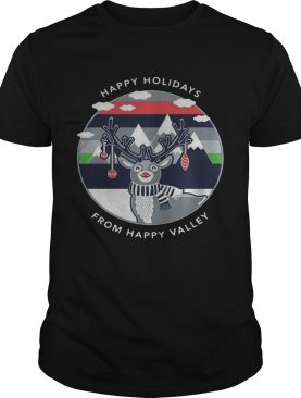 Penn State Happy Holidays From Happy Valley Reindeer Christmas shirt