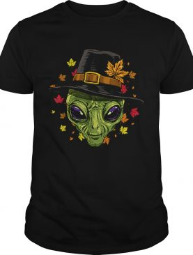 Pretty Thanksgiving Alien Pilgrim Costume Men Women shirt
