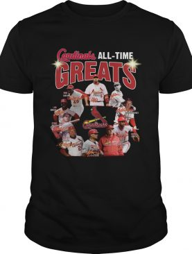 St Louis Cardinals all time great players signatures shirt