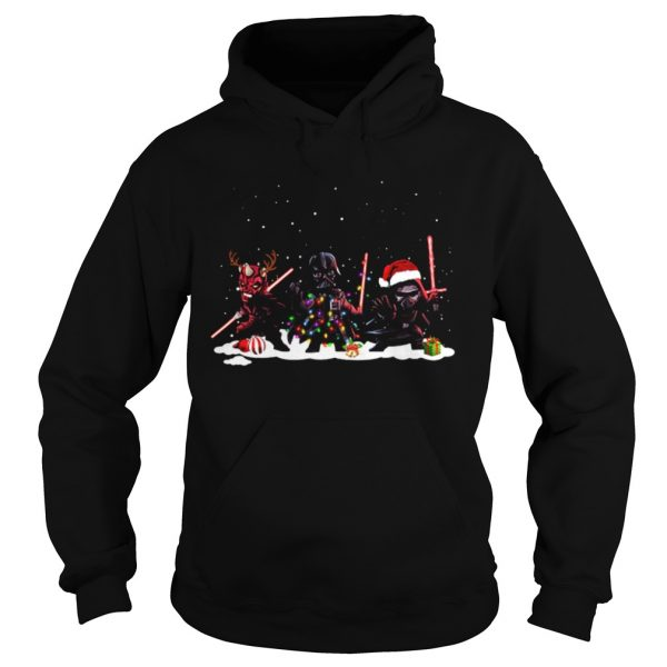 Star Wars Darth Maul Darth Vader Kylo Ren Christmas  Hoodie