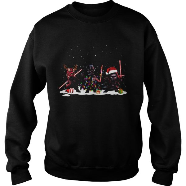 Star Wars Darth Maul Darth Vader Kylo Ren Christmas  Sweatshirt