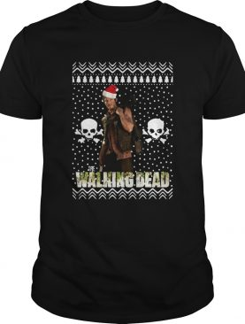 The Walking Dead Daryl Dixon Santa Hat Ugly Christmas shirt