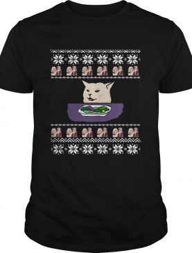 Woman Yelling Cat Meme Ugly Christmas shirt