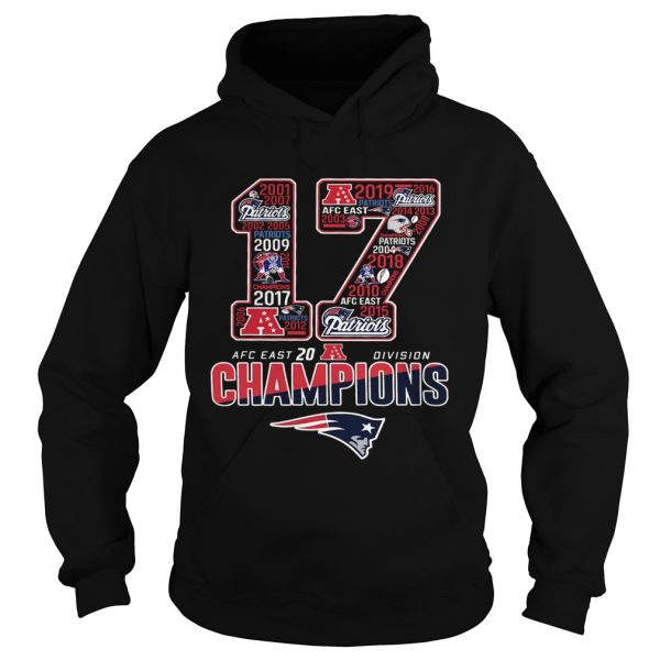 17 Division Champions New England Patriots  Hoodie