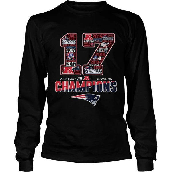 17 Division Champions New England Patriots  LongSleeve