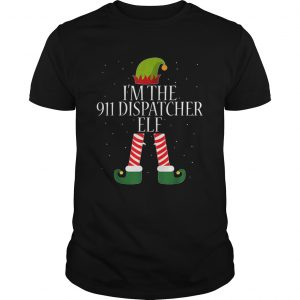 911 Dispatcher Elf Funny Christmas Elves  Unisex