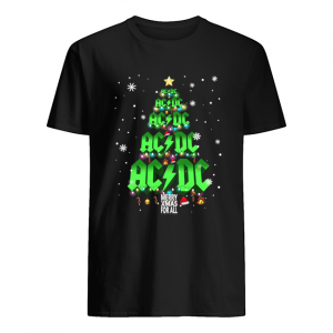 AC DC tree Christmas merry Xmas for all  Classic Men's T-shirt