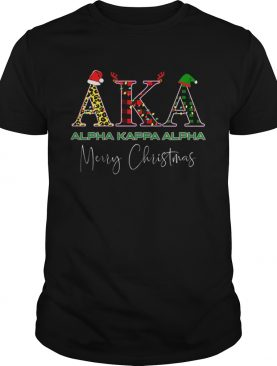 AKA Alpha Kappa Alpha Merry Christmas shirt