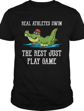 Baby crocodile Real Athletes Swim The First Just Play Game shirt