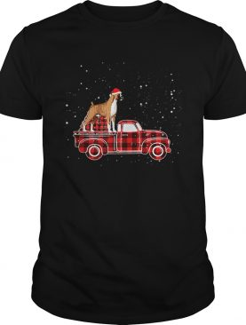 Boxer Buffalo Plaid Truck Xmas Boxer Christmas shirt