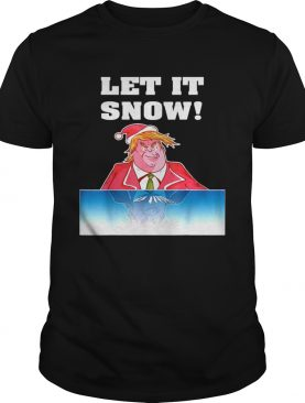 Let It Snow Trump Cocaine Santa Christmas shirt