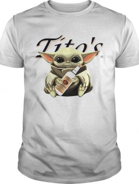 Baby Yoda Hugging Titos Vodka shirt