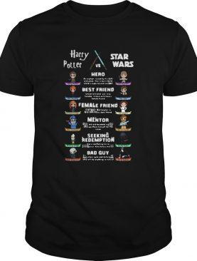 Harry Potter Vs Star Wars Hero Best Friend Female Friend Mentor shirt