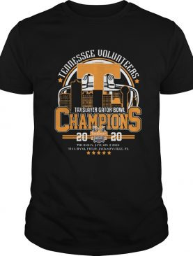 Tennessee volunteers Taxslayer Gator bowl Champions 2020 shirt