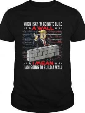 Trump When I Say Im Going To Build A Wall I Mean I Am Going To Build A Wall shirt