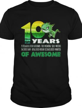 1581065260T-rex Dinosaur 10th Birthday Shirt for Awesome 9 Year Old shirt
