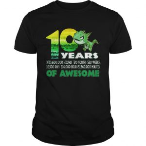 1581065260T-rex Dinosaur 10th Birthday Shirt for Awesome 9 Year Old  Unisex