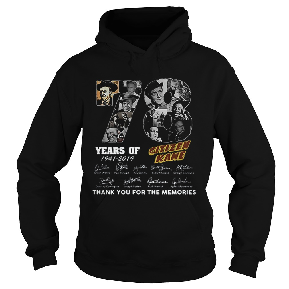 78 Years Citizen Kane Thank You For The Memories Hoodie