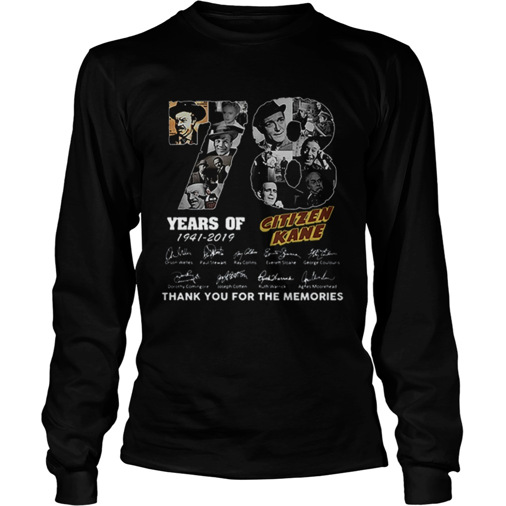 78 Years Citizen Kane Thank You For The Memories LongSleeve