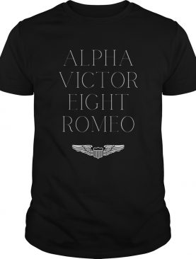 Alpha Victor Eight Romeo Pilot Plane Aviator shirt