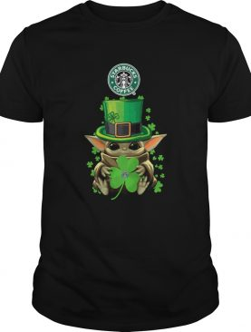 Baby Yoda St Patricks Day Hug Starbucks Coffee shirt
