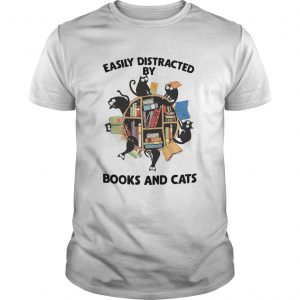 Easily Distracted By Books And Cats  Unisex