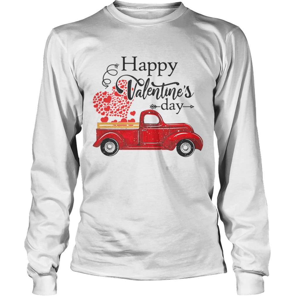 Happy Valentines Day Truck Carrying Love Heart LongSleeve