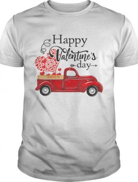 Happy Valentines Day Truck Carrying Love Heart shirt
