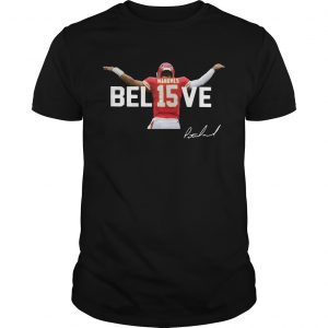Kansas City Chiefs Patrick Mahomes 15 Believe Signature  Unisex