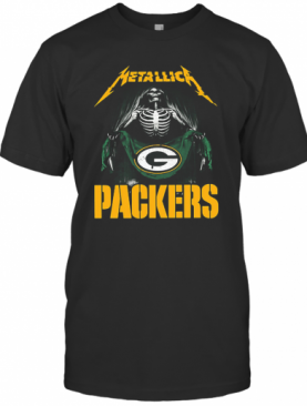 Metallica Skeleton Flag Green Bay Packers shirt T-Shirt