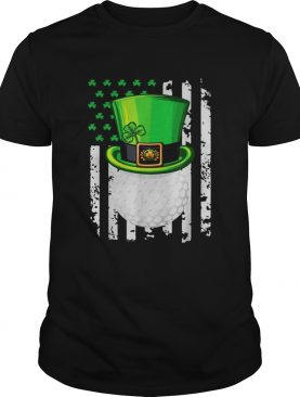 St Patricks Day Leprechaun golf and American flag shirt