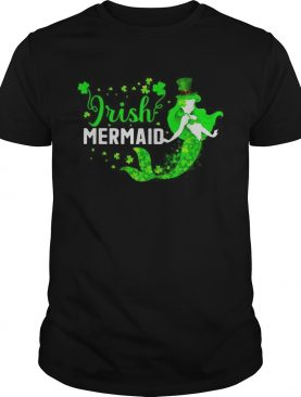 St Patricks day Irish mermaid shirt
