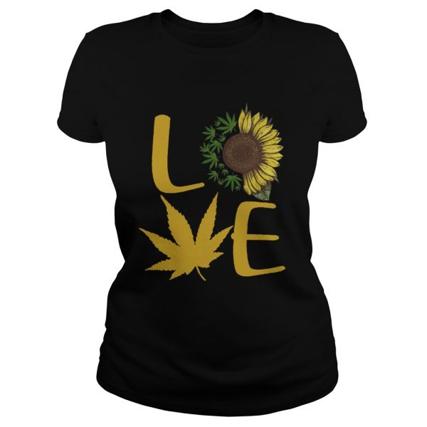 Sunflower And Cannabis Love  Classic Ladies