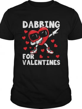 Valentines Day Dancing Heart Lover Cute Dabbing shirt