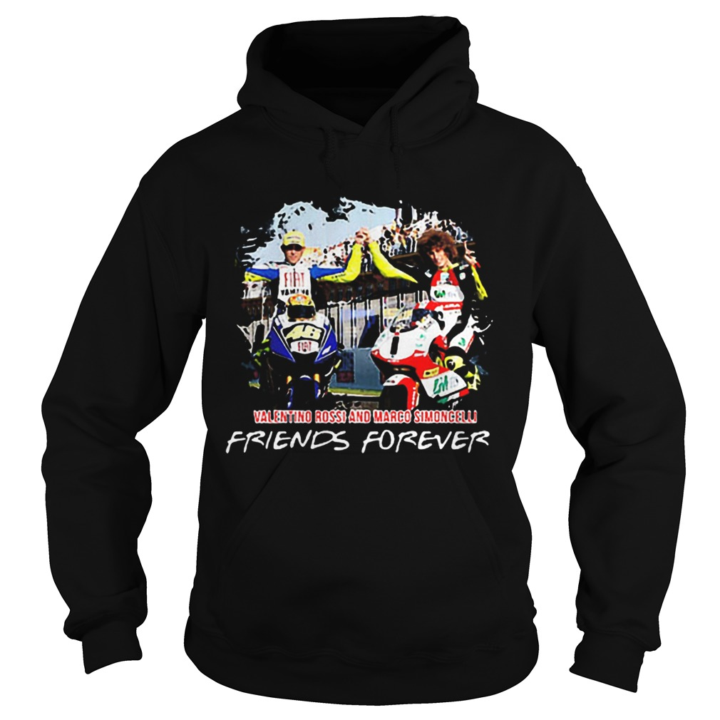 Valentino Rossi and Marco Simoncelli Friends forever Hoodie