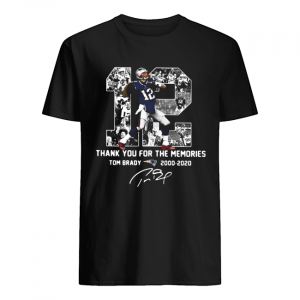 12 Tom Brady 2000 2020 Thank You For The Memories Signature  Classic Men's T-shirt