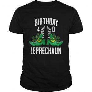 1583564506St Patricks Day Birthday Happy 40th Bday Leprechaun  Unisex