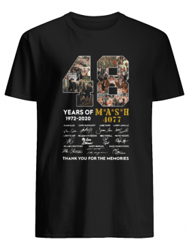 48 years of 1972-2020 mash 4077 signatures thank you for the memories shirt
