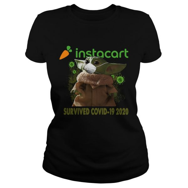 Baby Yoda Instacart Survived Covid 19 2020  Classic Ladies
