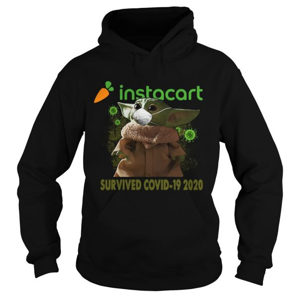 Baby Yoda Instacart Survived Covid 19 2020  Hoodie