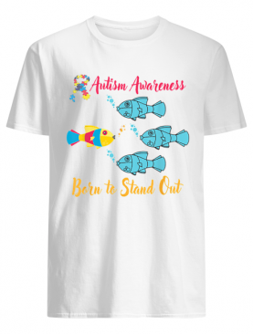 Born To Stand Out Puzzle Ribbon Cool Autism Awareness shirt