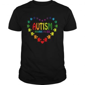Love Autism Awareness heart  Unisex