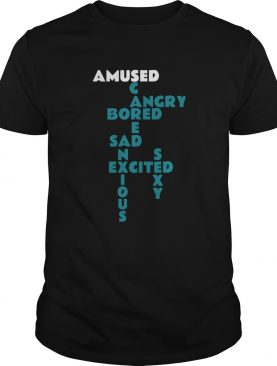 Marshawn Lynch Amused Angry Bored Sad Excited Scared Anxious Sexy shirt