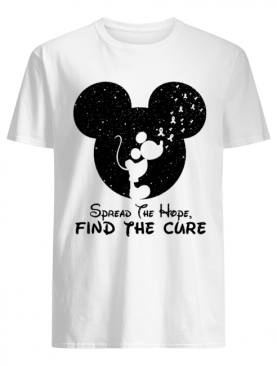 Mickey Breast Cancer Awareness Spread The Hope Find The Cure shirt