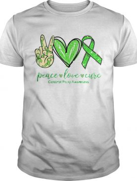 Peace Love Cure Cerebral Awareness shirt
