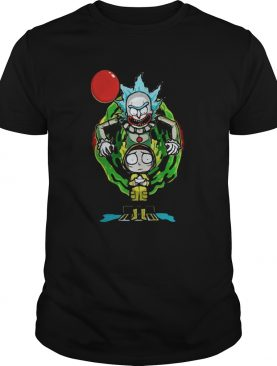 Pennywise IT mashup Rick and Morty halloween shirt